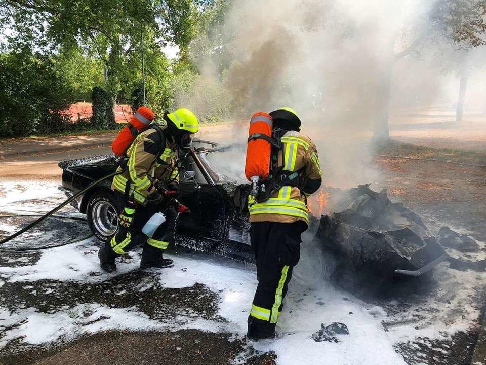 Feuerwehreinsatz am Sportfeld.  | Foto: Feuerwehr