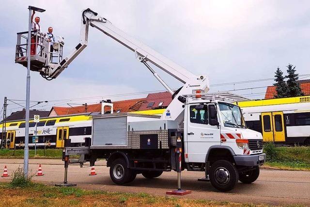 In Ringsheim erhellen nun LED-Leuchten die Straßen