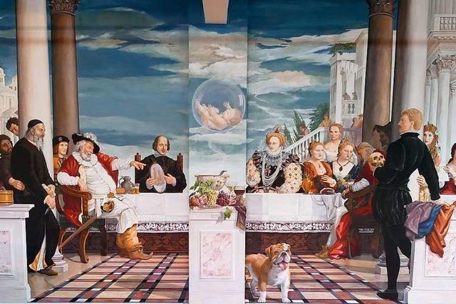 In Hartheim beeindruckt ein meterhohes Shakespeare-Fresko