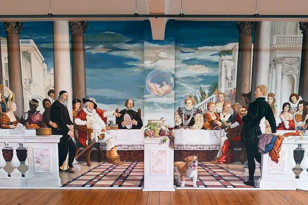 Hartheimer Highlight: Shakespeare-Fresko im Hartheimer Schwanitz-Haus.  | Foto: Hans-Peter Müller