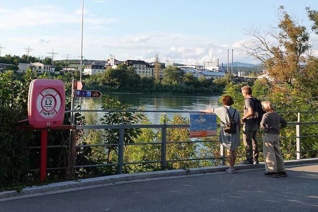 Der Bau der Aussichtsplattform im Schweizer Rheinfelden verzögert sich