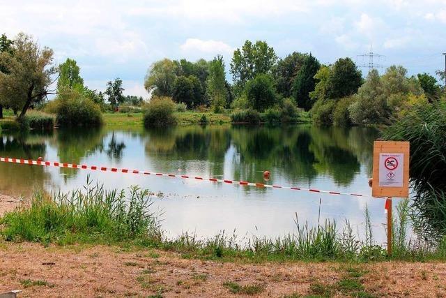 Die Sperrung des Badesees am Anglerheim Nonnenweier ist ab sofort aufgehoben