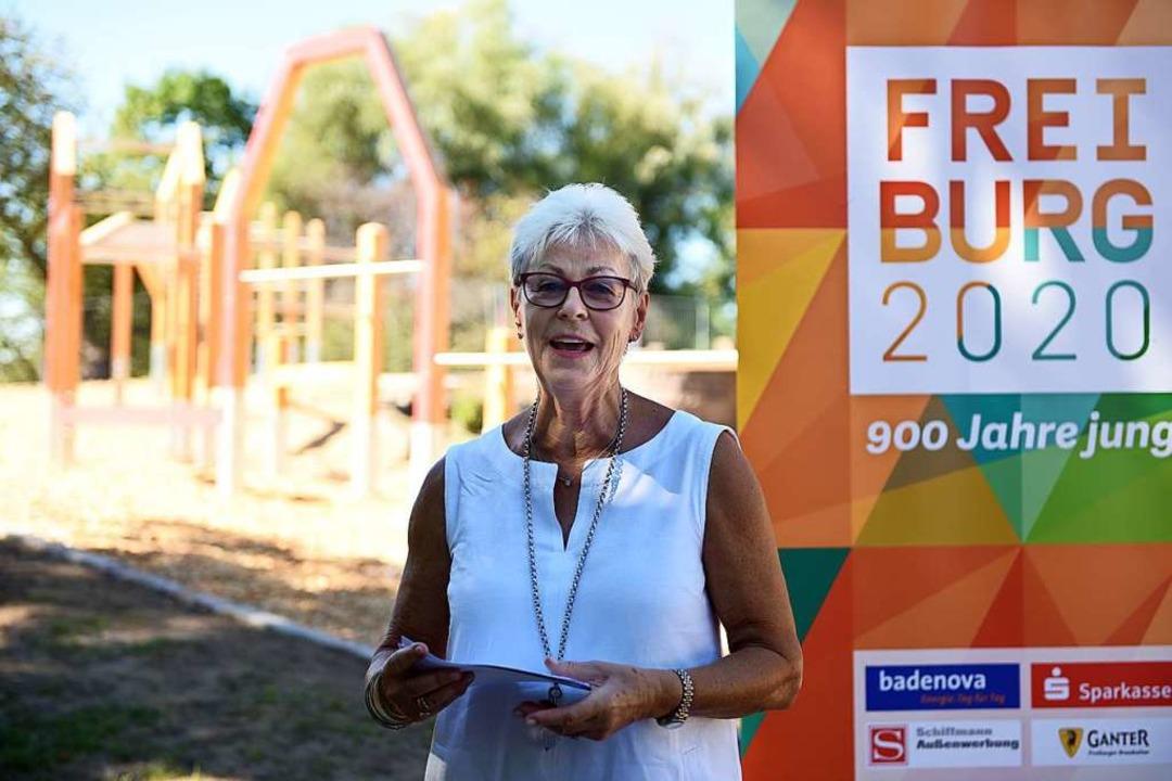 Renate Sick-Glaser spendete über ihre ...ftung 100.000 Euro für den Spielplatz.  | Foto: Rita Eggstein