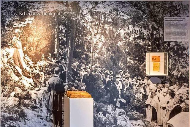 Das weltweit erste Denkmal für Anton Tschechow stand in Badenweiler