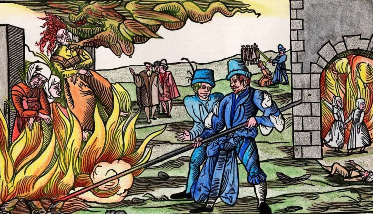 Verurteilt   und verbrannt wegen Hexer...in Süddeutschland wohl  9000 Menschen.  | Foto: AKG