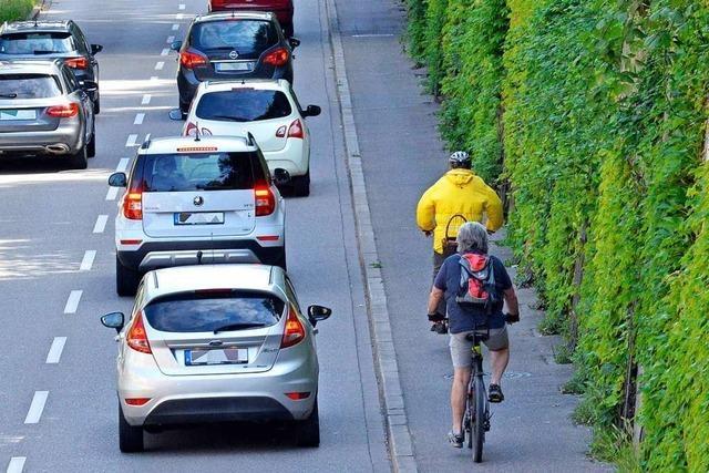 Bauarbeiten am Freiburger Schlossbergring sorgen für Fahrbahnverengung