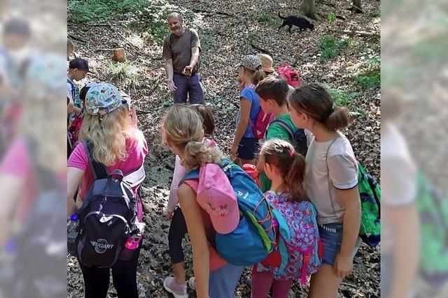 Kinder beschäftigen sich intensiv mit der Umwelt
