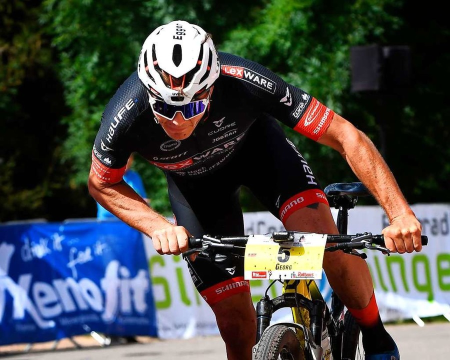Kurvenjäger und Tagessieger auf der letzten Etappe: Georg Egger    Foto: Wolfgang Scheu