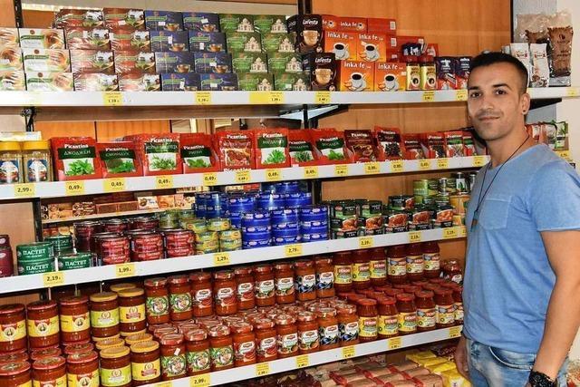 In Steinen gibt es den einzigen bulgarischen Supermarkt der Region