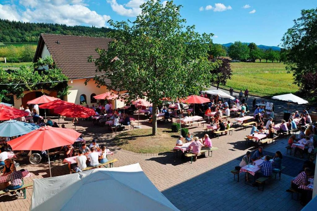 Weinfest mit Abstand: Am Wochenende ka...e Besucher zur Einweihung der Vinothek  | Foto: Rainer Ruther