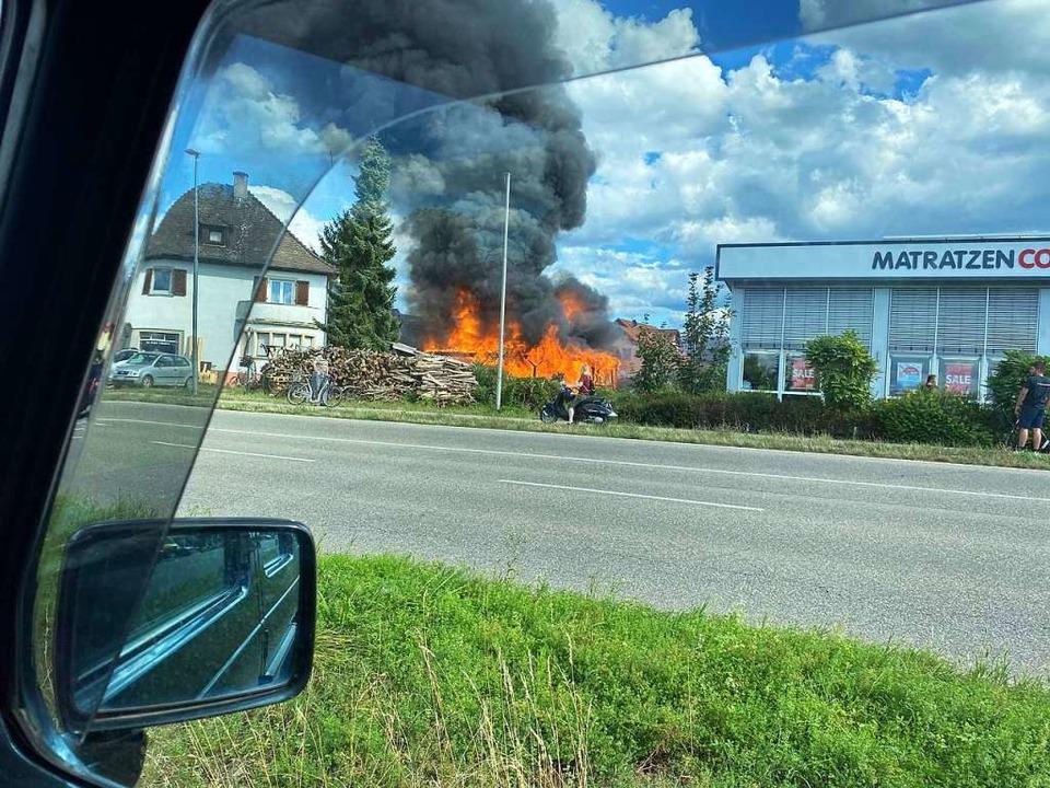 Der Brand in Altdorf  | Foto: Christoph Schneider