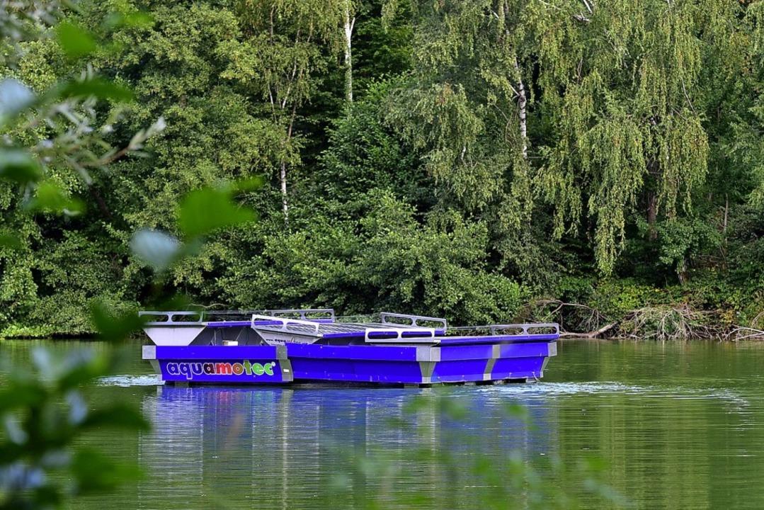 Die Firma EKS hat mit dem System &#822...eit zehn Jahren am Waltershofener See.  | Foto: Thomas Kunz