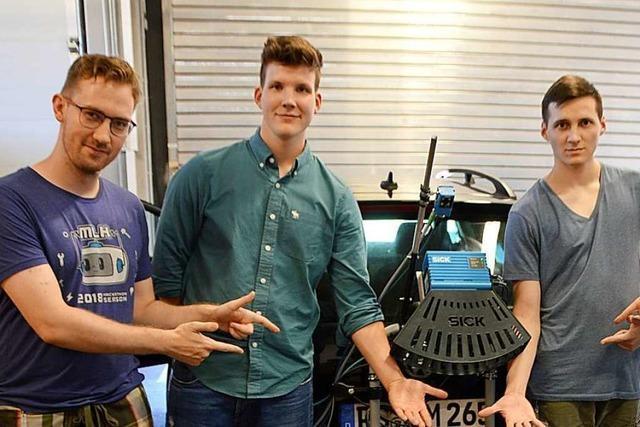 Studenten bauen Scanner für Straßenschäden in Denzlingen