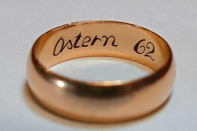 Dieser vor vielen Jahren in Hausen verlorene Ring sucht seine Besitzerin