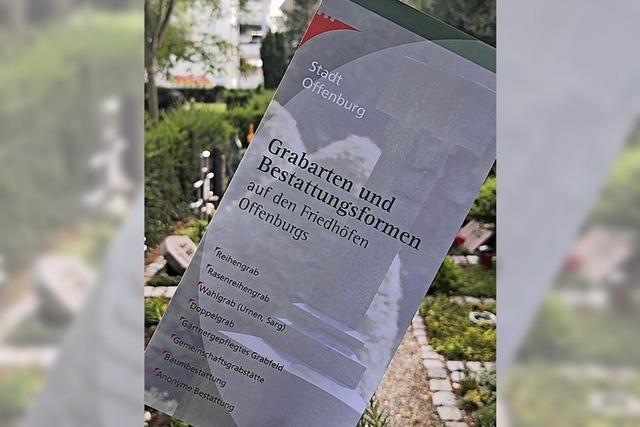 Flyer zu Formen der Bestattung