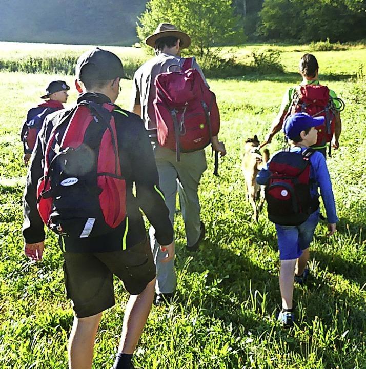 Die Biosphären-Ranger  mit den teilnehmenden Kindern    Foto: privat