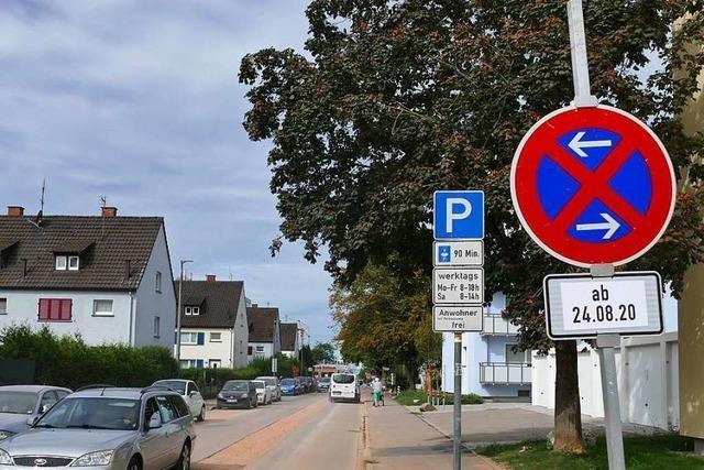 In der Weiler Schillerstraße gilt ein einseitiges Halteverbot