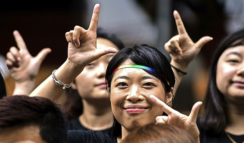 Ein Bild aus besseren Tagen: Teilnehmer der Shanghai Pride 2016.    Foto: JOHANNES EISELE
