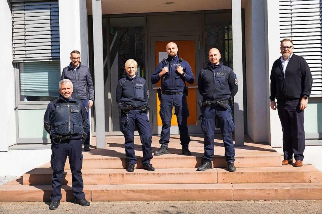 Ein Teil des Lahrer KOD mit Oberbürger...ürgermeister Guido Schöneboom (rechts)  | Foto: Stadt Lahr