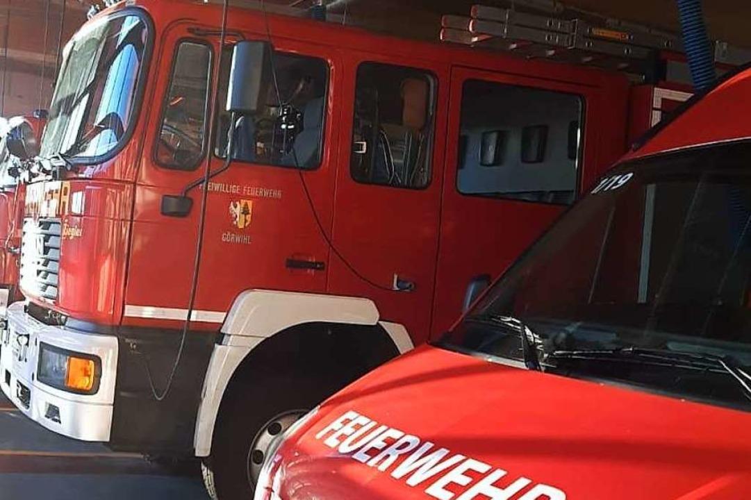Die Feuerwehr aus Görwihl war in Oberwihl im Einsatz.  | Foto: feuerwehr Görwihl