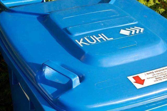 Kühl sammelt Mitte September die nicht mehr benötigten blauen Tonnen ein