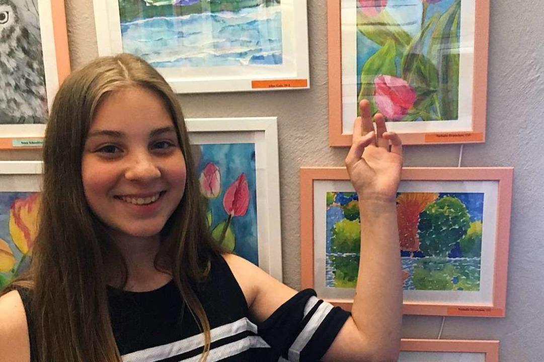 Stolz zeigt Natalie ihr Lieblingswerk.  | Foto: BVKH