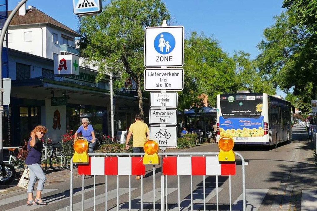 Die Diskussionen um die Weiler Fußgängerzone nehmen kein Ende.    Foto: Victoria Langelott