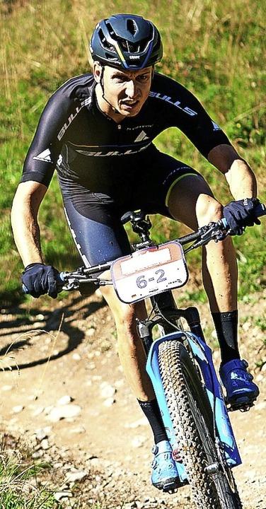 Simon Stiebjahn auf  der dritten Etappe   | Foto: Michael Chiaretta