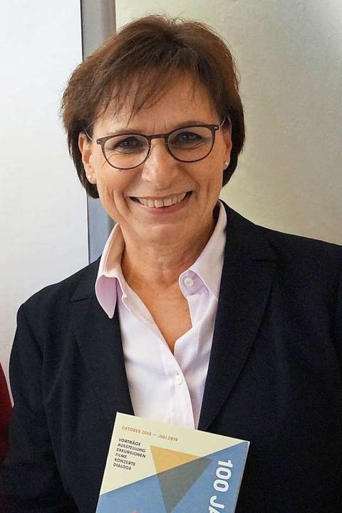 Edith Schreiner, Oberbürgermeisterin v... Schmidt als Porträtisten entschieden.    Foto: Christine Storck-Haupt