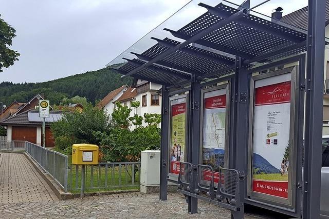 Eine neue Bushaltestelle