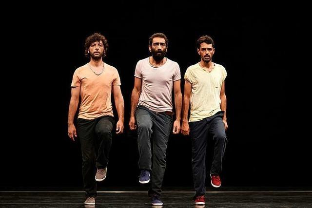 Performance auf der Wiese, Tanz aus Syrien in der Kaserne