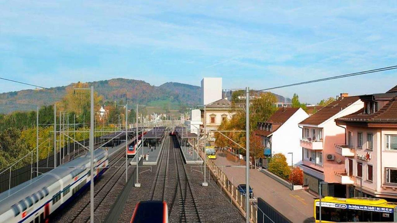 So soll der Bahnhof Liestal nach dem Ausbau aussehen  | Foto: SBB