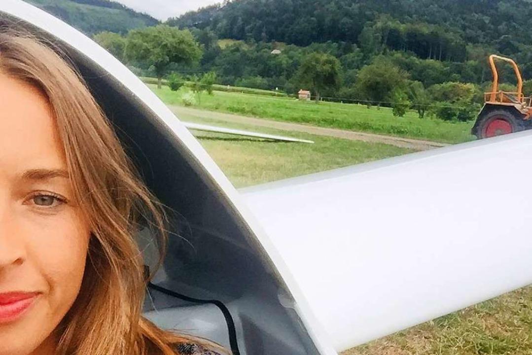 fudder-Redakteurin Gina Kutkat durfte selbst in die Luft  | Foto: Gina Kutkat