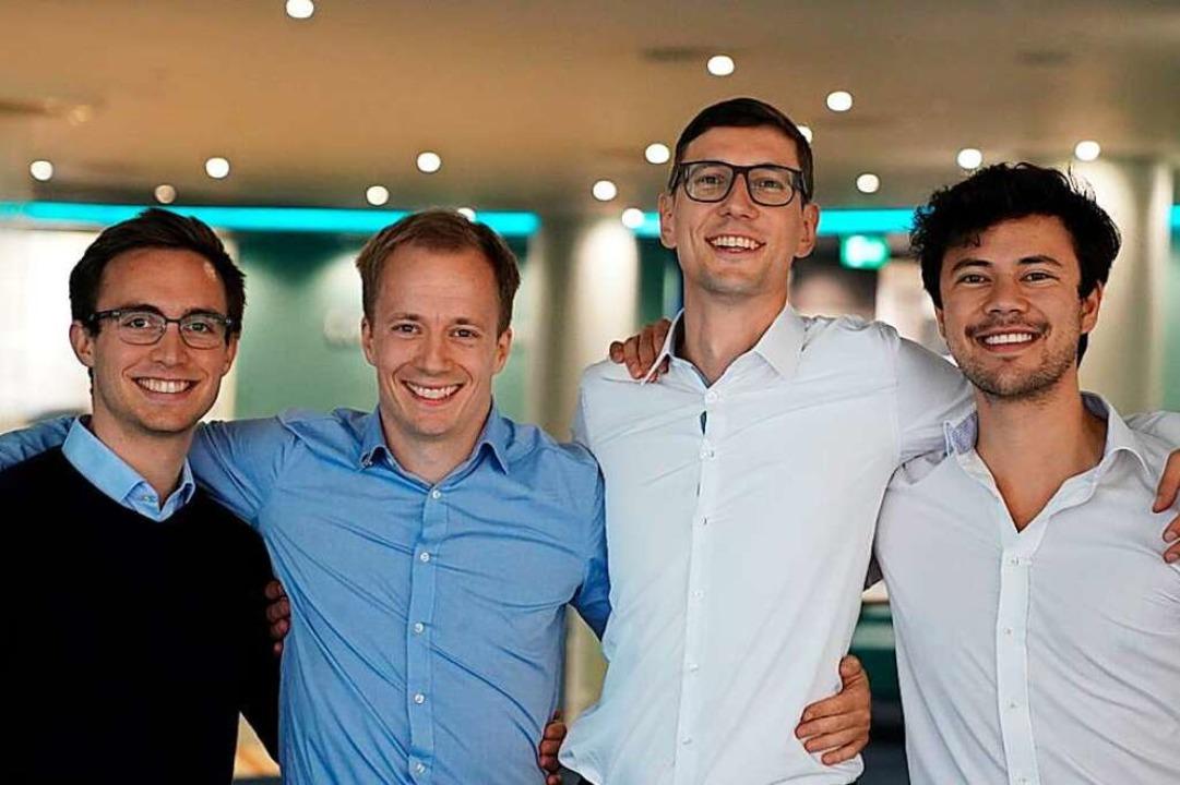 Das Gründerteam der ConstellR GmbH:Mar...und Christian Mittermaier (von links).  | Foto: Brendan Spaun, Space Geek Productions