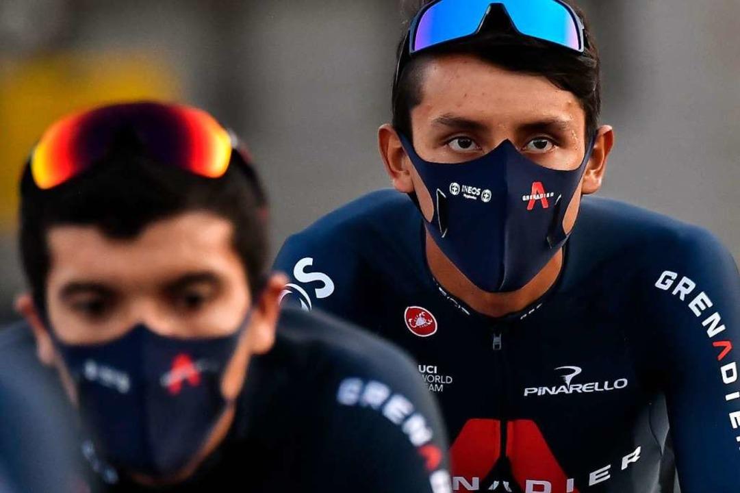 Maskierter Star: Vorjahressieger  Egan...freilich keinen Mund- und Nasenschutz.  | Foto: MARCO BERTORELLO (AFP)