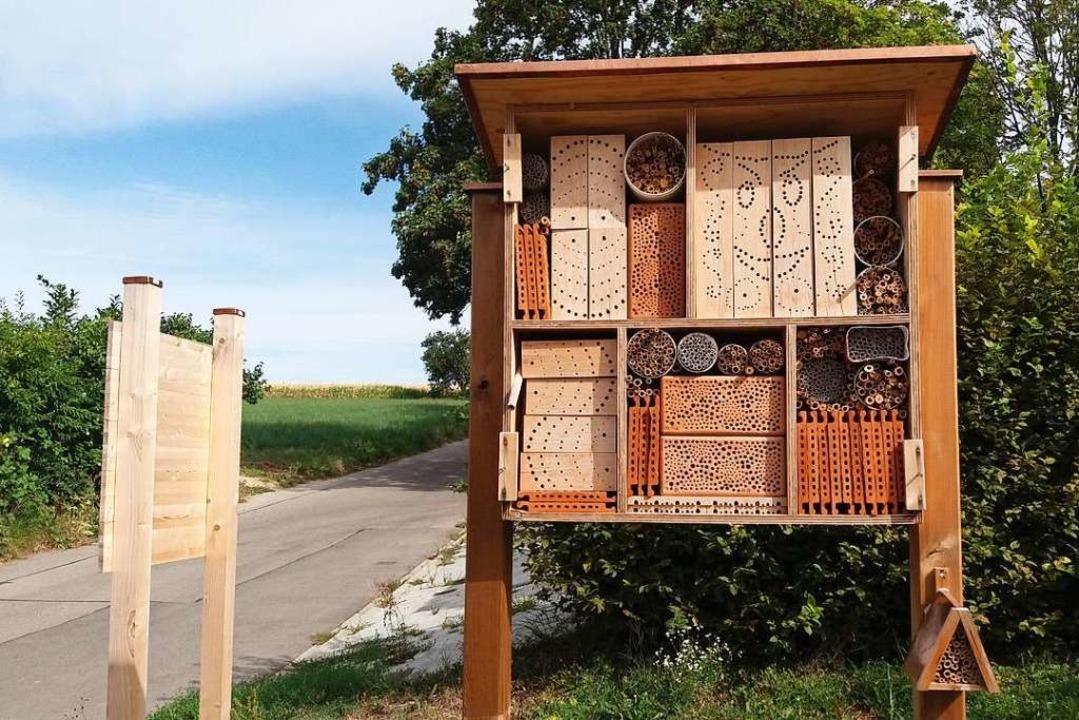 Eins der Hochdorfer  Insekten-Hotels.  | Foto: Thomas Jäger