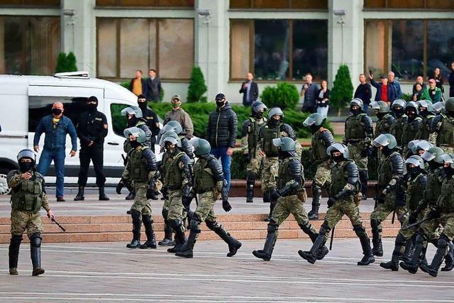 Gespannte Lage vor neuen Protesten gegen Lukaschenko in Minsk