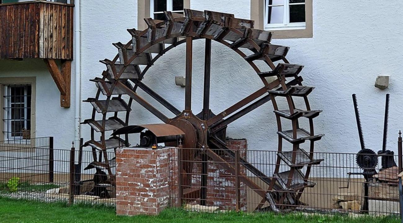 Wiederhergestellt: Das Mühlrad an der Mayer-Mühle  | Foto: Rainer Ruther