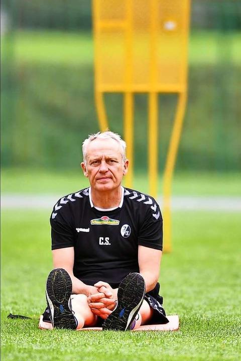 Trainer Christian Streich  | Foto: Achim Keller