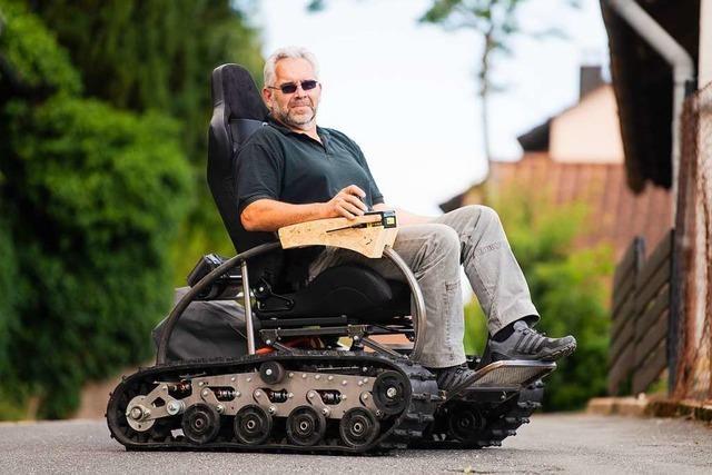 Ein Rollstuhl fürs Gebirge – mit Panzerketten