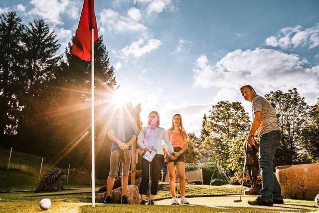 50 Prozent BZ-Card-Rabatt beim Abenteuer-Golfpark in Lenzkirch