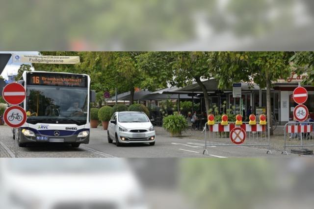 Verkehr in der Innenstadt läuft wieder