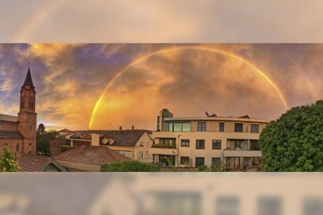 Regenbogen und Abendrot