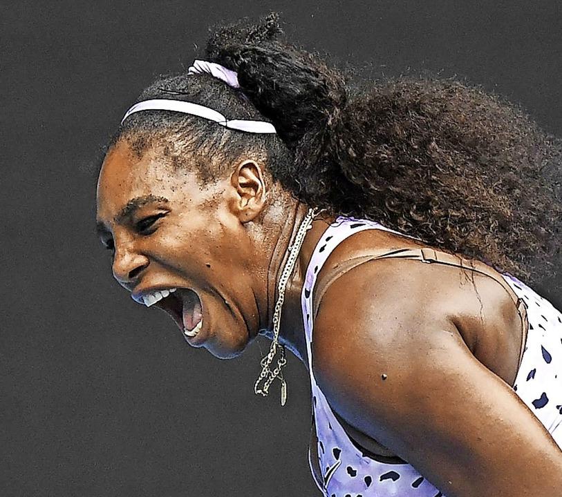 38 Jahre  und kein bisschen leise: Serena Williams  | Foto: WILLIAM WEST (AFP)