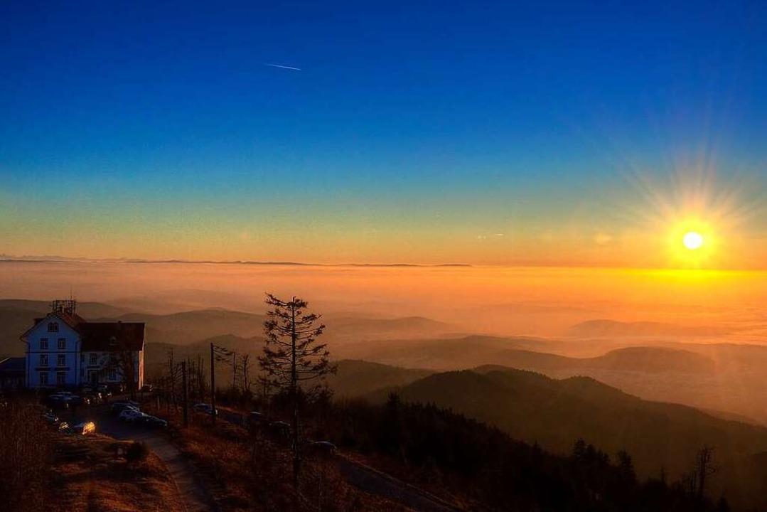 Sonnenuntergang auf dem Hochblauen  | Foto: Matthias Weniger