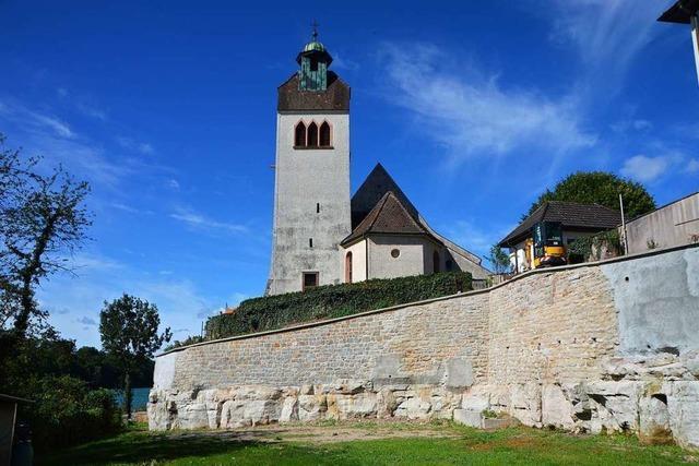 Kirchenmauer der St. Gallus-Kirche Warmbach wurde teuer saniert