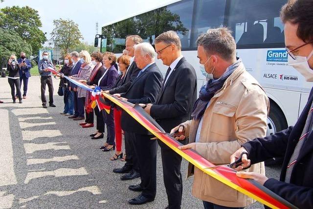Ein Linienbus verbindet Lahr und die französische Stadt Erstein