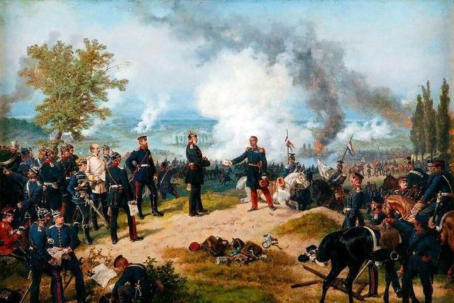 Ein Lörracher Maler hielt die Schlacht von Sedan auf Leinwand fest