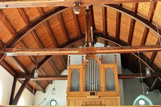 Die Friedenskirche in Wyhlen ist ein bescheidenes Gotteshaus