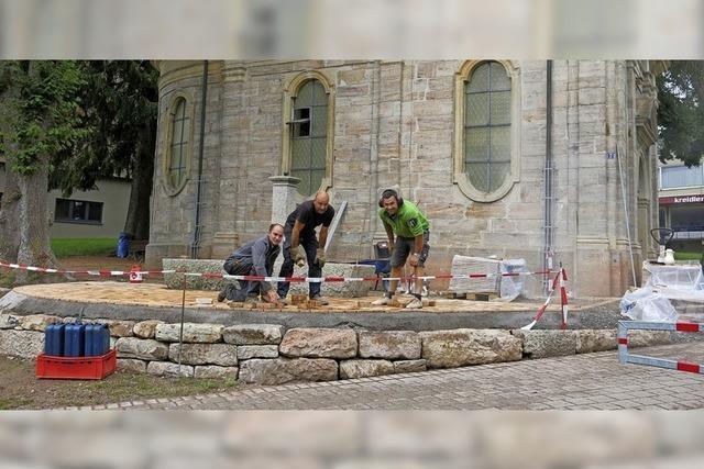 Arbeiten im Stadtgarten: Anlage wird attraktiver